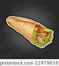 Burrito color picture sticker 22979639