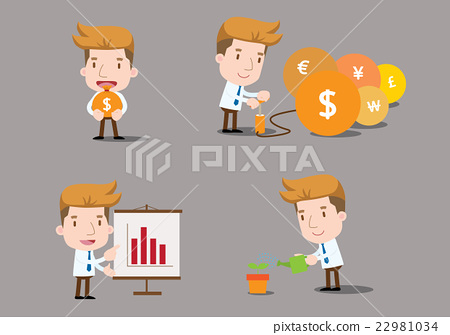 Businessman series - finance set 22981034