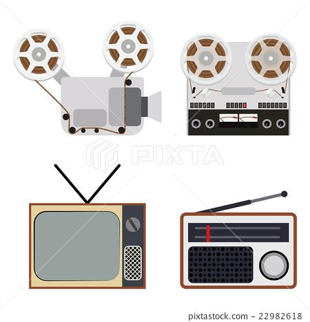 Flat design retro classic electronics 22982618