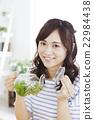 여성 티타임 젊은 여성 라이프 스타일 22984438