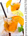 Orange lemonade with mint. 22987070