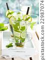 Fresh mojito cocktail. 22987074