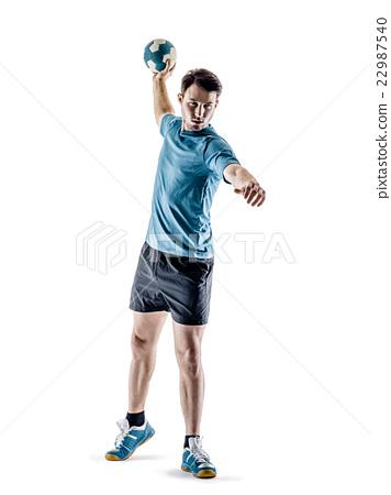 man handball player isolated 22987540