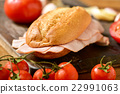 braised turkey ham sandwich 22991063