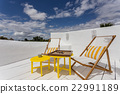 Sunbeds to relax on the porch vacation. 22991189