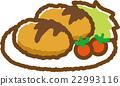 croquette, food, foods 22993116