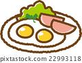 荷包蛋 火腿蛋 火腿鸡蛋 22993118