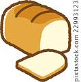 white, bread, baker 22993123