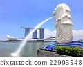싱가폴 머라이언 파크 22993548