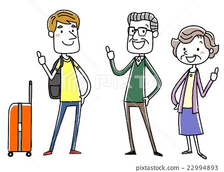 外国旅客和年长夫妇 22994893