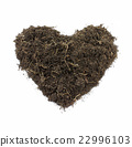 Heart-Shape Soil Isolated on white background. 22996103