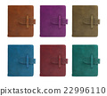set of all color leather notebook front cover. 22996110