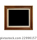 Wooden picture frame isolated on white background 22996157