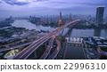 aerial view of bhumiphol bridge  bangkok thailand 22996310