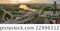 aerial view of bhumiphol bridge  bangkok thailand 22996312