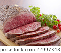 烤牛肉 烧牛肉 牛肉 22997348