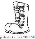 black and white pair of boots 22998650