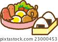 便当 午餐盒 饭团 23000453
