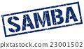 samba blue grunge square vintage rubber stamp 23001502