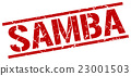 samba red grunge square vintage rubber stamp 23001503