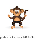 chimpanzee karate training black belt monkey 23001892
