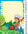 Lined paper with barbeque theme 1 23002657
