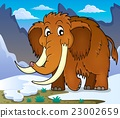 mammoth, animal, vector 23002659