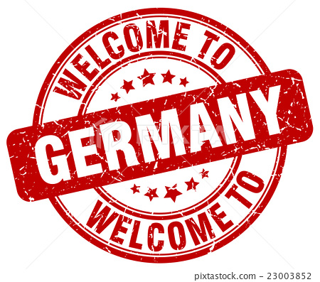 welcome to germany red round vintage stamp stock home work school balance in college homework school 2nd grade