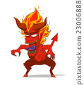 Red Devil Character vector. Monster in Halloween 23006888
