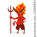 Red Devil Character vector. Monster in Halloween 23006891