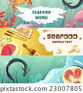 seafood, design, banner 23007805