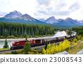 加拿大洛基山脈 世界遺產 貨運列車 23008543