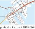 벡터, 지도, 도쿄항 23009064