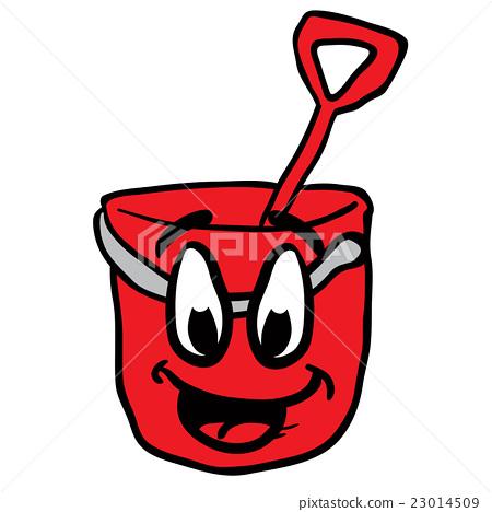 cartoon bucket smiling 23014509