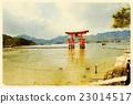 itsukushima, itsukushima shrine, Torii Gate 23014517
