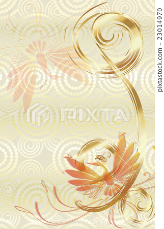 Japanese style Phoenix New Year's card template 23014970