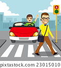 Pedestrian Smartphone Accident 23015010