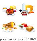 set, cartoon, breakfast 23021821