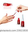 Manicure Nail Polish Hands Realistic Poster  23021830