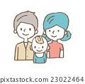 3人家庭【線條圖·系列】 23022464