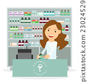 Modern flat vector of a female pharmacist 23024529