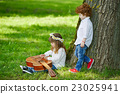cute children playing guitar 23025941