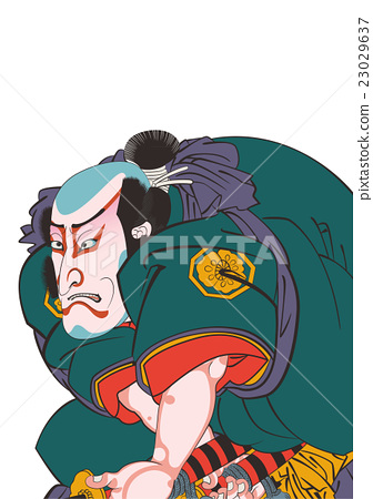 Utagawa Kunisaki Hakoyama Iguchi Hakkenden狗草紙在圖像例證裡面 23029637