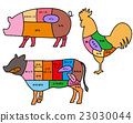 部位 部分 肉 23030044