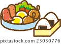 便當 午餐盒 飯糰 23030776