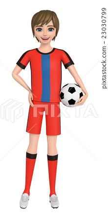 Lad soccer