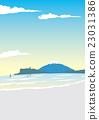 에노시마, 후지산, 바다 23031386