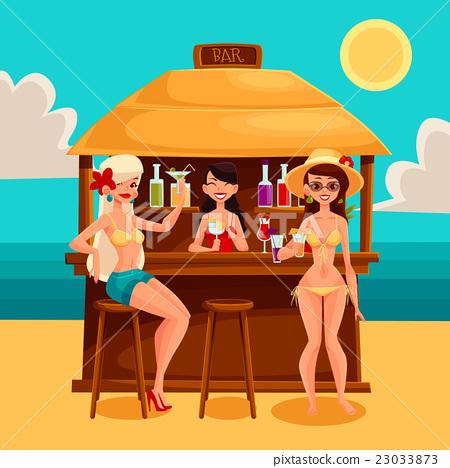 Summer vacation, a beach bar by the sea 23033873