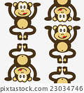 seamless cute little monkey pattern 23034746