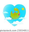dragon, flying, cartoon 23034811